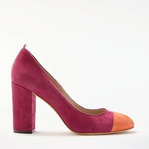 Read more about Boden lisbeth block heeled court shoes fallen fruit