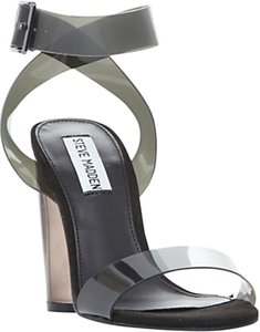 Read more about Steve madden clearer strappy sandals grey