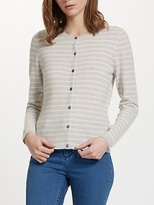 Read more about John lewis stripe cashmere crew neck cardigan