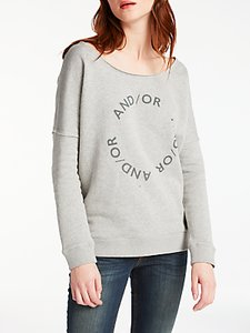 Read more about And or slouchy sweat top pale grey