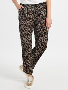 Read more about Collection weekend by john lewis ditsy floral print trousers black multi