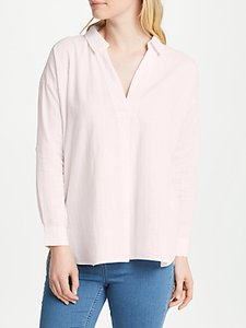 Read more about John lewis dobby check tunic shirt pale pink