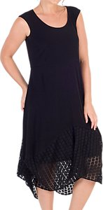 Read more about Chesca jersey mesh square hem dress black
