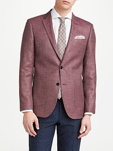 Read more about John lewis wool silk linen basketweave tailored blazer mulberry