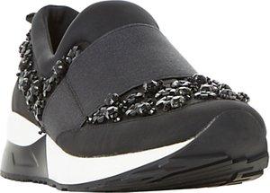 Read more about Dune elisha embellished slip on trainers