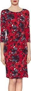 Read more about Gina bacconi fiona floral jersey dress red