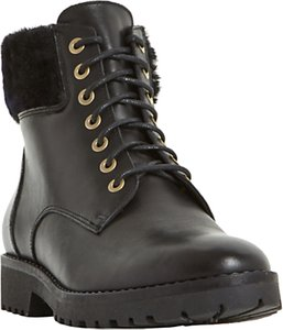 Read more about Dune perrinn lace up ankle boots black leather