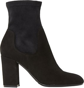 Read more about Dune oliah block heeled ankle sock boots black