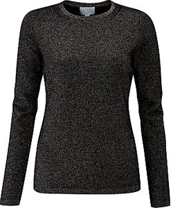 Read more about Pure collection sparkle crew neck cashmere jumper black