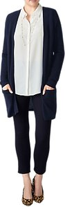 Read more about Pure collection longline gassato cashmere cardigan navy