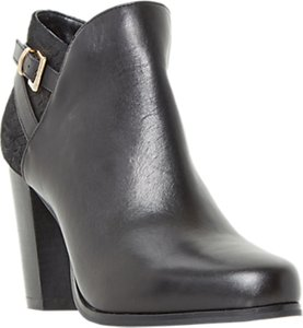 Read more about Dune oak block heeled ankle boots black