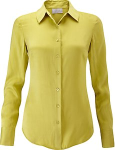 Read more about Pure collection washed silk blouse chartreuse