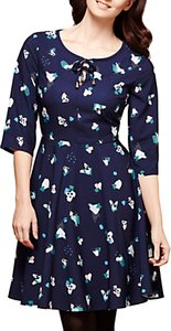 Read more about Yumi abstract impression print dress navy multi