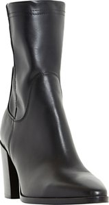 Read more about Dune black padock pointed toe ankle sock boots black