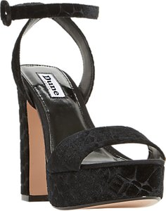 Read more about Dune morisey platform block heeled sandals black