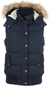 Read more about Fat face heritage faux fur trim hooded gilet indigo