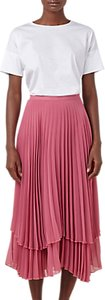 Read more about Finery asymmetric hem double layered pleated midi skirt rose