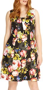 Read more about Studio 8 amara fit and flare floral dress black multi