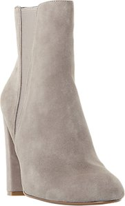 Read more about Steve madden effect block heeled ankle boots grey suede