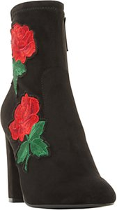 Read more about Steve madden edition floral sock ankle boots black
