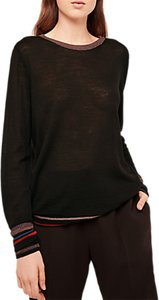 Read more about Gerard darel laureen metallic detail jumper black