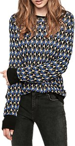 Read more about Gerard darel checked round neck pullover jumper blue multi