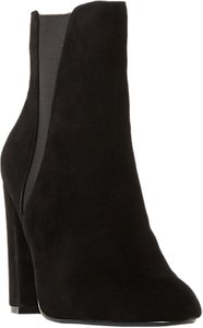 Read more about Steve madden effect block heeled ankle boots black suede