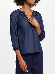 Read more about Collection weekend by john lewis lavinia tencel top mid denim
