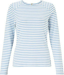 Read more about Collection weekend by john lewis breton assorted stripe zip back top white pale blue
