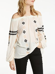 Read more about And or ana embroidered blouse ivory black