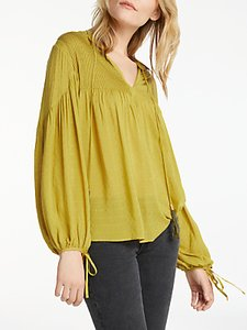 Read more about And or pintuck blouse chartreuse