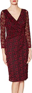Read more about Gina bacconi lydia floral lace dress wine