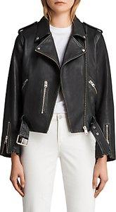 Read more about Allsaints leather vintage balfern biker jacket black