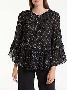 Read more about Max studio frill sleeve dot blouse black white