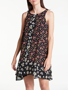 Read more about Max studio sleeveless floral print dress black