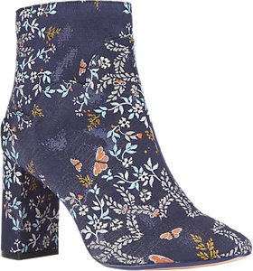 Read more about Ted baker ishbel block heeled floral ankle boot dark blue