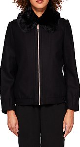 Read more about Ted baker robley wool faux fur bomber jacket black