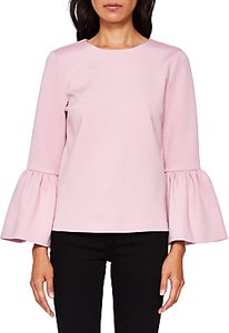 Read more about Ted baker lolare frilled bell sleeve blouse pink