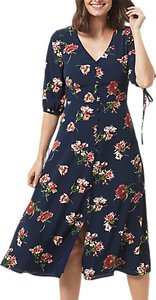 Read more about Sugarhill boutique astrid painterly floral dress navy floral