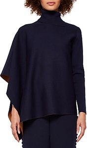 Read more about Ted baker bryte asymmetric knitted cape navy