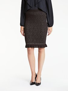 Read more about Max studio jacquard knit skirt black