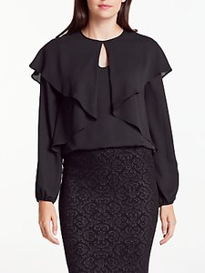 Read more about Max studio long sleeve double layer top black