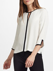 Read more about John lewis contrast tipped blouse neutral