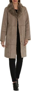 Read more about Betty barclay faux shearling coat moon rock