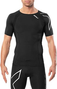 Read more about 2xu compression short sleeve men s top black silver