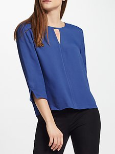 Read more about John lewis tipped blouse blue