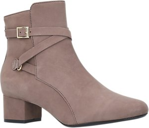 Read more about Carvela comfort renee block heel ankle boots taupe