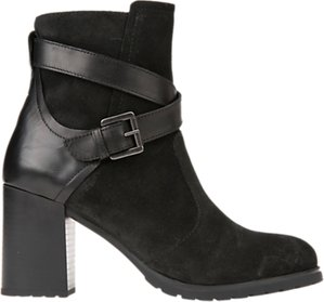 Read more about Geox new lise block heeled ankle boots black suede