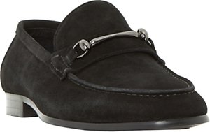Read more about Dune pinnochio classic snaffle suede loafers black