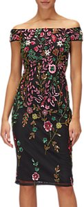Read more about Adrianna papell petite floral sheath dress black multi